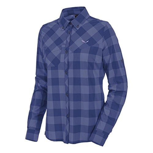 Salewa - PUEZ Dry W L/S SRT Chemise - S - Bleu - Femme