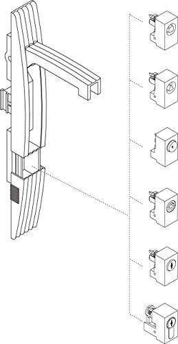 Schneider NSYINS81 Spacial SF/SM-Profileinsatz, Schloss mit 8-mm-Vierkanteinsatz
