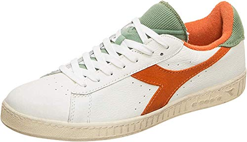 Diadora Game L Low Used Sneakers Bianco Arancio Verde 174764-C1419 (42.5 - Bianco)