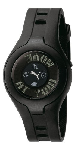 Puma PU910212002 - Reloj Digital de Cuarzo para Mujer con Correa de Caucho, Color Negro