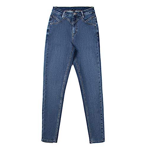 ShSnnwrl Guapo Jeans Vaqueros Pantalon Pantalones Vaqueros Ajustados Elásticos De Cintura Alta para Mujer...