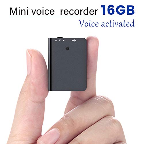 16GB Voice Recorder with Playback, Voice Activated Recorder with USB Charge - Portable Recording Device for Lectures, Meetings, Interviews, Learning