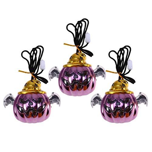 Amosfun Pingente de abóbora intermitente de Halloween brinquedo infantil para lembrancinhas de festa à fantasia de baile