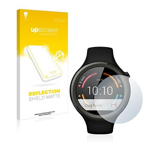 upscreen Entspiegelungs-Schutzfolie kompatibel mit Motorola Moto 360 Sport 45 mm (1. Generation) – Anti-Reflex Bildschirmschutz-Folie Matt