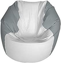 E-SeaRider Round Marine Beanbag, White/Grey, Medium