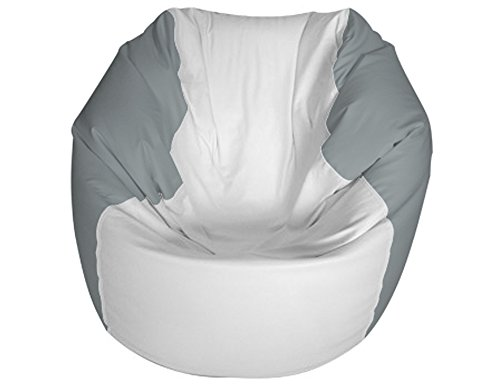 E-SeaRider Round Marine Beanbag, White/Grey, Medium