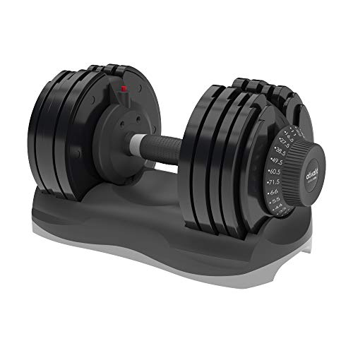 Ativafit Adjustable Dumbbell Fitness Dial Dumbbell with Handle and Weight Plate for Home Gym Note: Single (71.5 lbs)