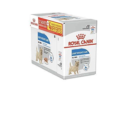 LIGHT WEIGHT CARE Royal CANIN 12 x 85g Cibo Umido per Cani per Cani con Tendenza AD Aumentare di Peso