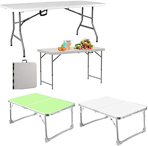 Mesa de camping Mesa plegable multifuncional 5 pies / 1.5m, mesa de...