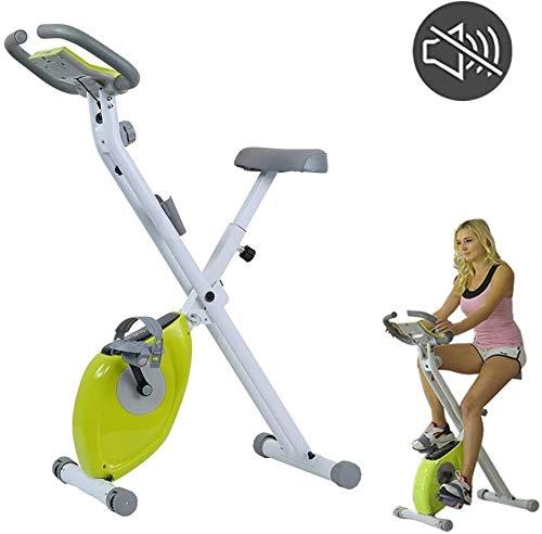 Qinmo Bicicleta estática cubierta plegable magnético de la erección de la bici del asiento ajustable, LED bicicleta de visualización dinámica, Paz Inicio pedal de la bicicleta estática equipo de la ap