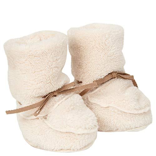 Koeka - Baby Hausschuhe Yuka - Babyschuhe Für Jungen Und Mädchen - Weicher Teddy Stoff - Weiß - Einheitsgröße