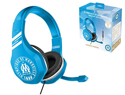 Subsonic Casque Gaming avec micro pour Playstation 4 - PS4 Slim - PS4 Pro - Xbox One - PC - Edition accessoire gamer club OM Olympique de Marseille