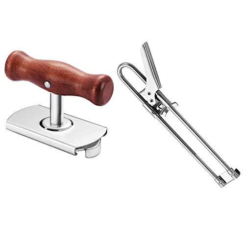 Kuinayouyi Abridor de tarros, herramienta de abrebotellas, abrebotellas de madera para manos débiles, abrebotellas para personas mayores con artritis