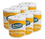 Rollo de papel de cocina multiusos XL. Extraabsorbente. Pack 6 rollos de 70 metros 280 servicios