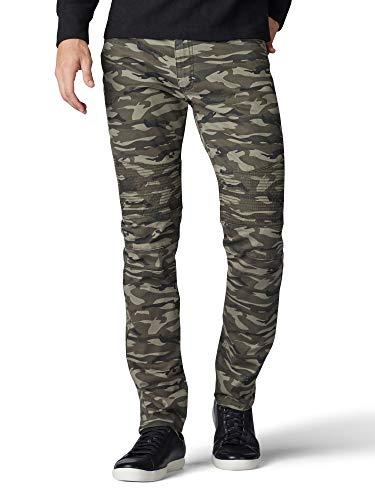Lee Men's Skinny Jean, Defender Camo, 36W x 32L