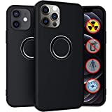 Tamiia Designed for iPhone 12 Case, Designed for iPhone 12 Pro Case,EMF Protection Anti Radiation Case,Shockproof Protective Phone Case Slim Thin Cover (6.1inch) 5G 2020(Black)