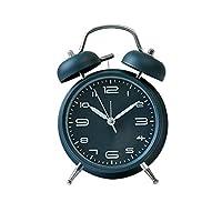 アナログ目覚まし時計クリエイティブメタルミュートルミナスファッション多機能パーソナリティ学生リビングルームベッドルームベッドサイドベルクロック