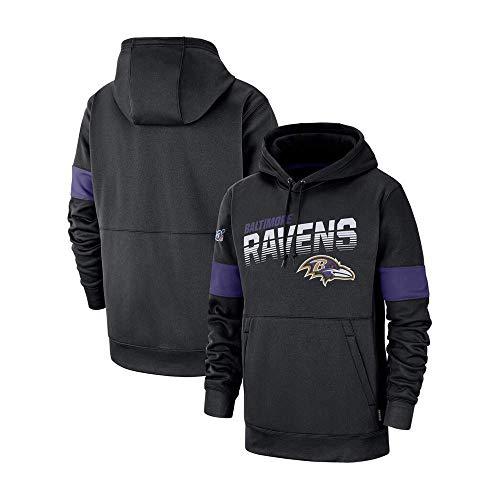 NFLSWER American Football Sport Ravens Team-Fan Jersey Sweatshirt der Männer beiläufige Art und Weise Hoodie, Kommode mit Team-Namen und Logo-Grafik Jersey (Farbe : Blue, Size : XXXL)