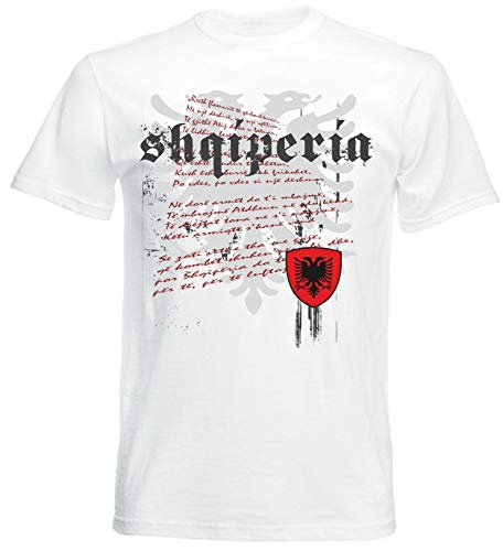 aprom T-Shirt Albanien Nationalhymne Flagge Herren NH (M)