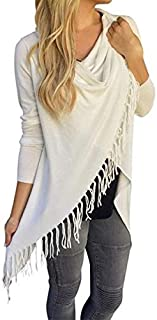 White Polyester Shirt Neck Cardigan & Poncho Top For Women