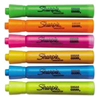 Sharpieアクセントタンクスタイル蛍光ペン、平芯、アソートカラー、6/設定by Sharpie