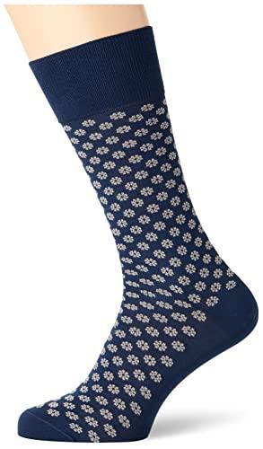Hackett London Mens Flower Socks, 5MAMID Blue, ML