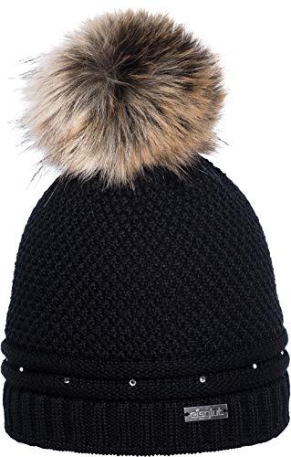 Eisglut Damen Antoinette Crystal Mütze, schwarz, M 57-58cm