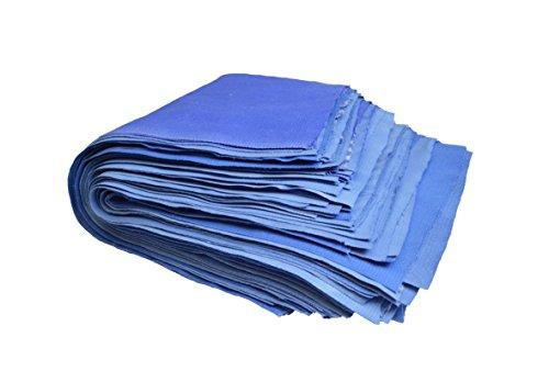 2KG Putzlappen Reinungstücher Putztücher 100{51d382659708d673b5fcc1b3875f5be09715590d296b1c955cef55bf9224bbb2} reine Baumwolle Zuschnitt Blau Umweltfreundlich DIN 61650