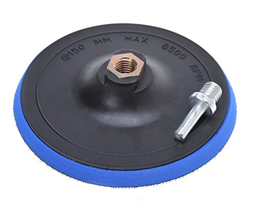 Plato de lijado con velcro, 150 mm, M14, con adaptador