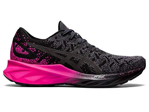 ASICS - Zapatillas de correr para mujer, negro (rosado, negro (Black/Pink Glo)), 40 EU
