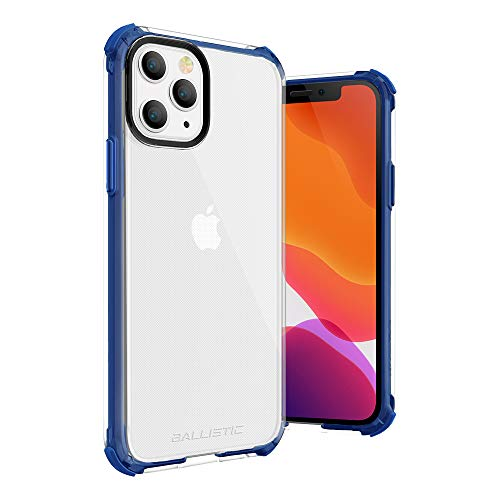 BALLISTIC iPhone 11 Pro Clear Case Rubber Thin Slim Shockproof Case, Dual Layer Rugged Clear Bumper Case for iPhone 11 Pro 5.8' (Transparent Blue)