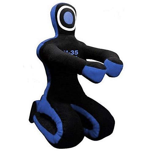 N-35 Dummy sentado, 180 cm, color azul, judo, boxeo, anillos, MMA, Grappling, Ju Jutsu, muñeca lanzada sin relleno