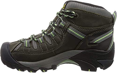 KEEN Women's Targhee 2 Mid Height Waterproof Hiking Boot, Raven/Opaline, 10 M (Medium) US
