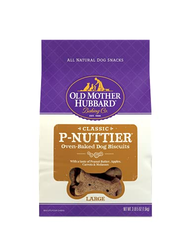Old Mother Hubbard Classic P-Nuttier Biscuits Baked Dog Treats, Large, 3.5...