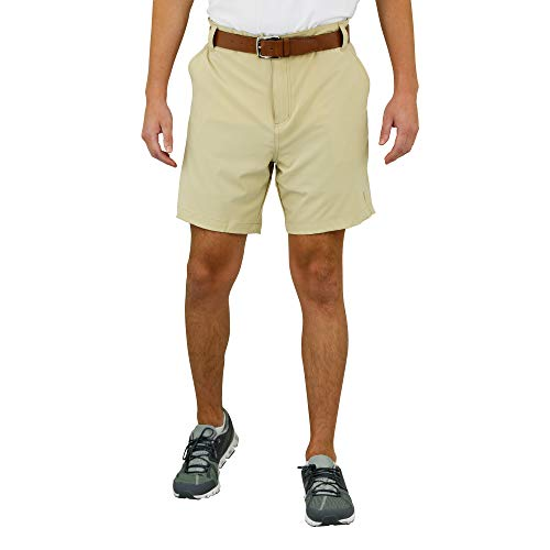 Mossy Oak Golf Shorts for Men, Dry Fit, Mens Stretch Golf Shorts Pale Khaki