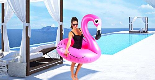 Cute Inflatables Tumbona Flotador Flamenco Hinchable | ¡Gran Accesorio Divertido para la...