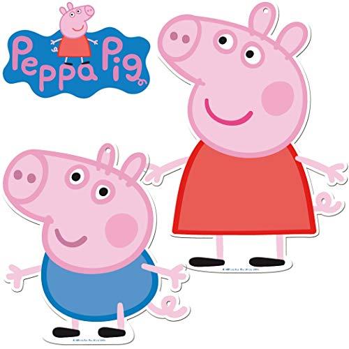 2 Grandes Carteles de cartón * Peppa Pig * como decoración de Pared para cumpleaños Infantiles y Fiesta temática. Decoración para Fiestas Infantiles.