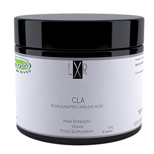LXR Vitamins Vegan Conjugated Linoleic Acid - Plant Based CLA Supplement - Omega 6 Vegan Capsules for Men and Women - High Strength Vitamins - Organic and Non-GMO Formula - 90 Capsules