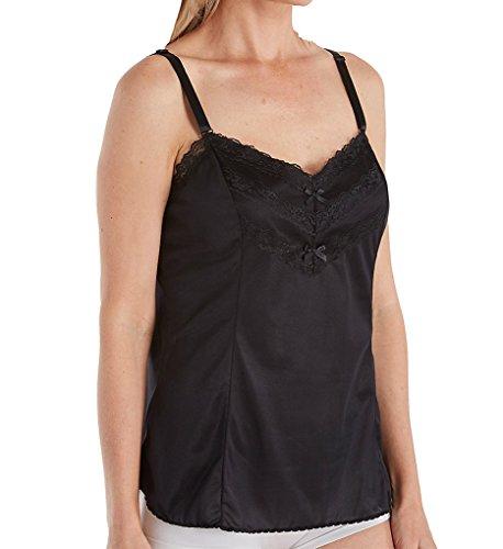 Shadowline Women's Lace Trim Camisole 4903 2X Black