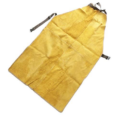 PU Leder Schürze Arbeitsschürze Schutzschürze Latzschürze für alle Menschen zum jede Anlässe, Größe und Farbe Auswahl - Gelb 90x60cm