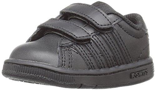 K-Swiss Baby Hoke Strap-K Sneaker, Black, 2 M US Infant