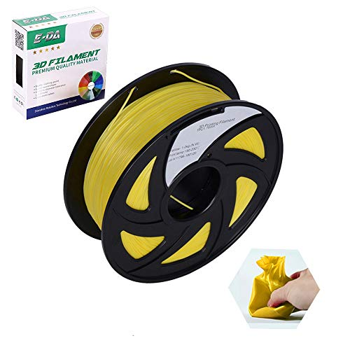 E-DA TPU 3D Printer Filament, TPU Filament 1.75, With Flexibility and Cold Resistance, 3D Printing Filament for 3D Printers, Dimensional Accuracy +/- 0.02mm, (Yellow)