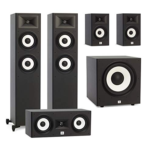 Find Bargain JBL 5.1 System with 2 JBL Stage A180 Floorstanding Speakers, 1 JBL Stage A125C Center S...