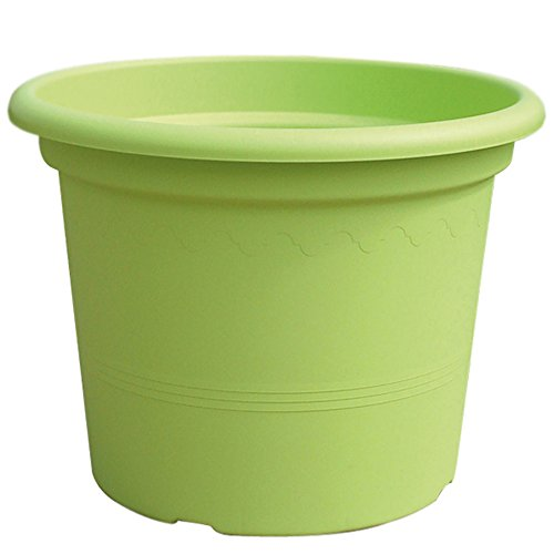 Lhicum Geo Pot à plantes en plastique Rond 40cm x 30cm Vert citron