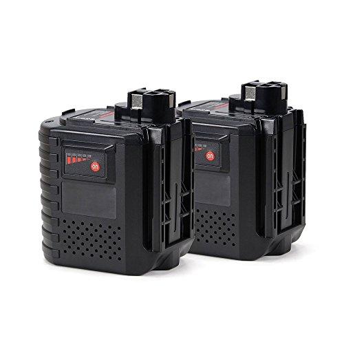 POWERGIANT 2pcs Batteria 24v 3ah per Wurth 702300824, 0702300924, Bosch 2607335097, 2607335163, 2607335082, 2607335215, GBH 24V, GBH 24VRE, GBH 24VFR, BAT019 batteria di ricambio