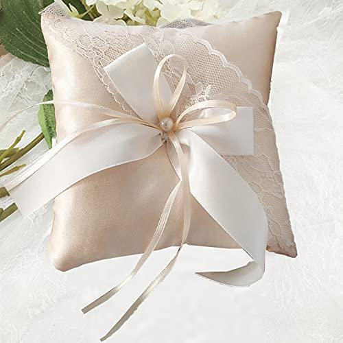 Avorio Cuscino,1 pezzo Cuscino Per Fedi Matrimonio Bianco Anello Cuscino Anello Cuscino per Anelli Nuziali per Proposte di Matrimonio, Cerimonie Forniture per La Decorazione della Festa Nuziale
