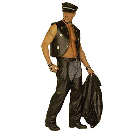 NET TOYS Rocker Faux Cuir déguisement Motard déguisement de Motard jambières XL 54/56