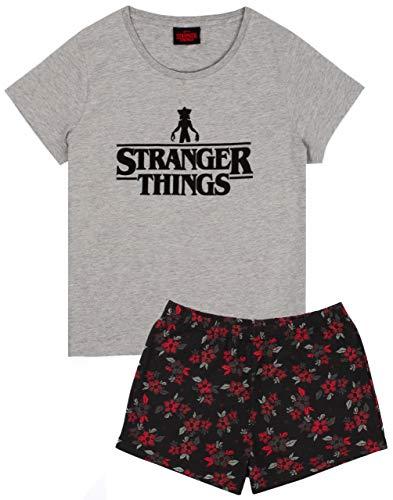 Stranger Things Pijamas Mujer Corto O Largo Opciones de Pierna PJs (S)