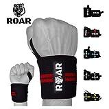 Roar Muñequeras Deportivas, Ideales para Gimnasio, Crossfit, Levantamiento de Pesas, Calistenia, Fitness, Musculación, Halterofilia (Rojo)