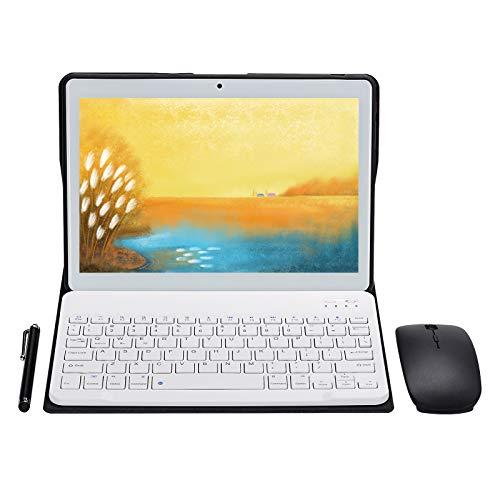 Janwil - Tablet Android 9.0, schermo da 10 , Quad-Core, RAM 4 GB, ROM da 64 GB, fotocamera da 5 MP + 8 MP, Wi-Fi, GPS, tipo C, 8000 mAh, batteria doppia SIM, tablet di chiamata 3 G, colore: bianco